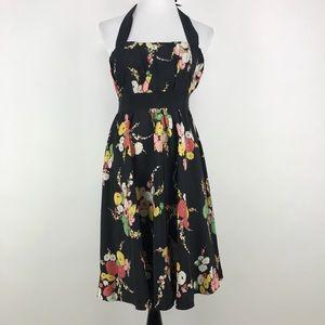 Moulinette Soeurs Go-see Halter Dress Silk Floral